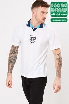 Score Draw England 1996 European Championship Retro Jersey Shirt