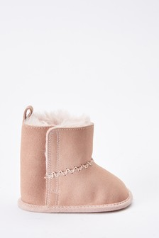 Pink Pram Pull-On Boots (0-18mths)