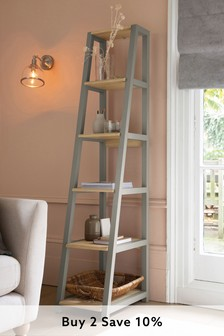 Dove Grey Malvern Corner Ladder Shelf