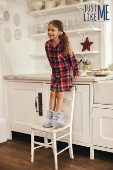 Red Brushed Woven Check Nightshirt (3-16yrs)