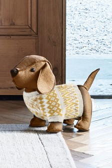 Don the Dachshund Doorstop