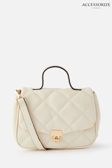 Accessorize Cream Alani Quilted Cross-Body Bag