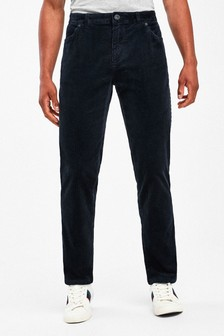Navy Slim Fit Jean Style Cord Trousers