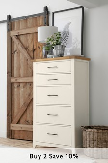 Thornley Painted 5 Drawer Tall Chest