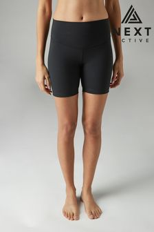 Black High Waisted Sculpting Shorts