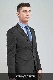 Charcoal Slim Fit Stretch Tonic Suit: Jacket