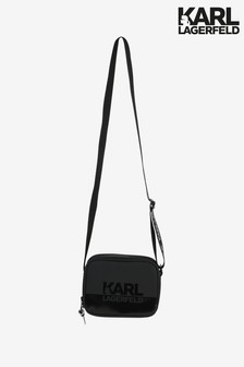 Karl Lagerfeld Black Logo Shoulder Bag