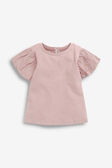 Lilac Cotton Puff Sleeve T-Shirt (3mths-7yrs)