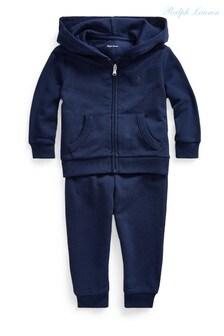 Ralph Lauren Navy Logo Fleece Set