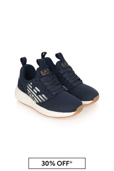 Kids Navy Fusion Racer Trainers