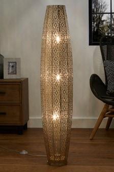 Nickel Large Oriana 3 Light Floor Lamp
