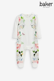 Baker by Ted Baker White Floral Sleepsuit