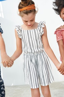 Mono Stripe Ruffle Stripe Co-ord Set (3-16yrs)