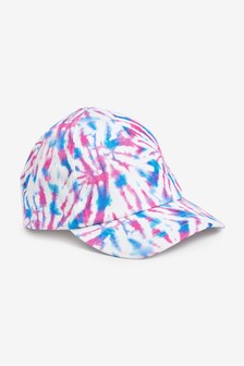 Pink/Blue Tie Dye Cap (Younger)
