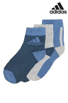 adidas Little Kids 3 Pack Ankle Socks