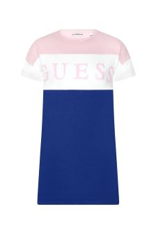 Guess Girls Pink Cotton Dress