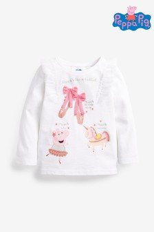 White Peppa Pig™ Ballet T-Shirt (3mths-7yrs)