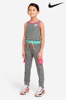 Nike Little Kids Grey Utility Jumpsuit