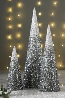 Set of 3 Glitter Trees
