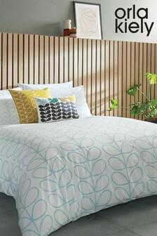 Orla Kiely Linear Stem Cotton Duvet Cover and Pillowcase Set