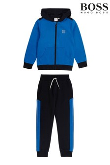 BOSS Blue And Navy Logo Tracksuit