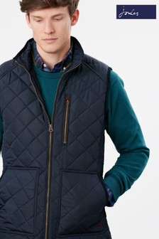 Joules Blue Halesworth Quilted Gilet
