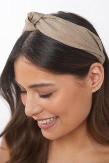 Neutral Linen Blend Headband