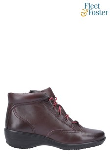 Fleet & Foster Red Merle Lace Up Ankle Boots