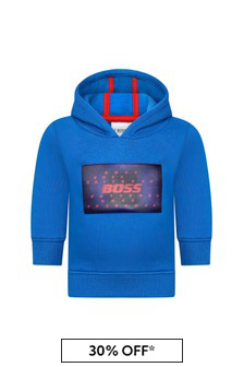 Baby Boys Blue Hooded Sweater
