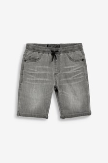 Grey Jersey Denim Shorts (3-16yrs)