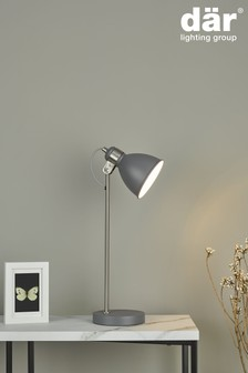 Dar Lighting Grey Frederick Table Lamp