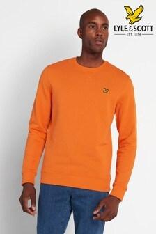 Lyle & Scott Risk Orange Crew Neck Sweatshirt