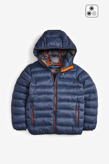 Navy Shower Resistant Padded Jacket (3-16yrs)