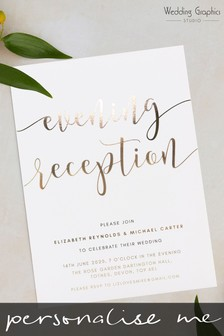 Personalised Script Evening Invitiation by Wedding Graphics