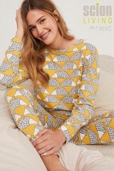 Ochre Scion At Next Cotton Hedgehog Pyjama Set