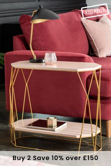 Blush Hex Sofa Side Table