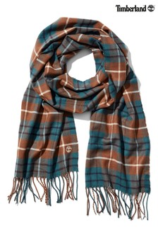 Timberland® Yellow Plaid Scarf With Gift Box