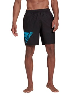 adidas Classic Black Badge of Sport Logo Swim Shorts