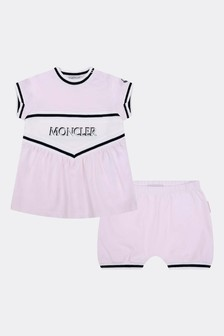 Baby Girls Pink Cotton Shorts Set