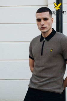 Lyle & Scott Jacquard Repeat Knitted Polo