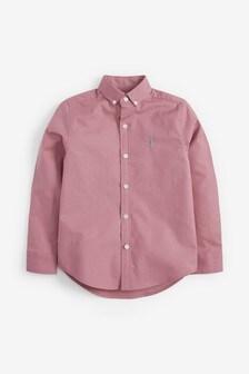 Pink Long Sleeve Oxford Shirt (3-16yrs)