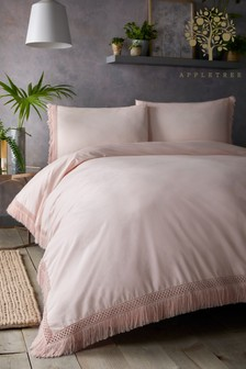 Appletree Tasha Tassel Trim Cotton Duvet Cover And Pillowcase Set