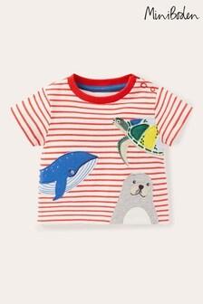 Boden Red Peeking Animals T-Shirt