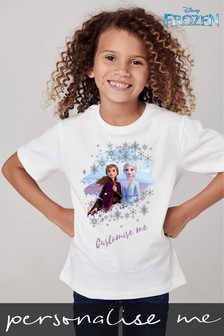 Personalised Disney™ Frozen Elsa And Anna T-Shirt