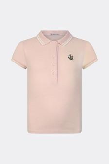 Girls Pink Pique Polo Top