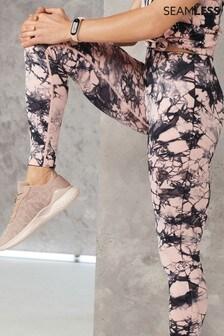 Pink Camo Print Seamless Contour Leggings