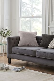 Soft Velour Large Square Cushion