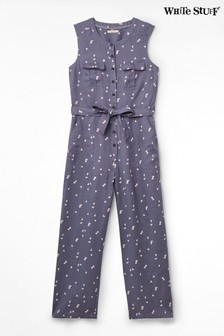 White Stuff Grey Marti Linen Jumpsuit