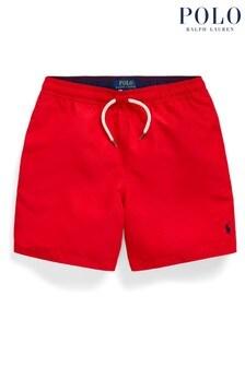 Ralph Lauren Red Logo Swim Shorts