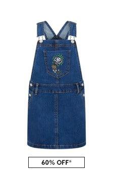 فستان قطن أزرق بناتي
